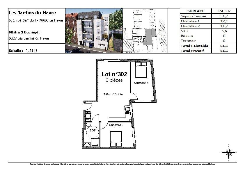 Appartement à vendre 3 61.1m2 à Le Havre vignette-2