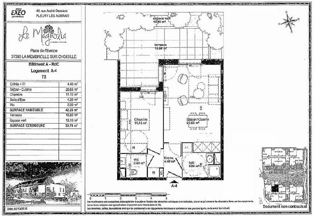 Appartement à louer 2 42.2m2 à La Membrolle-sur-Choisille vignette-9