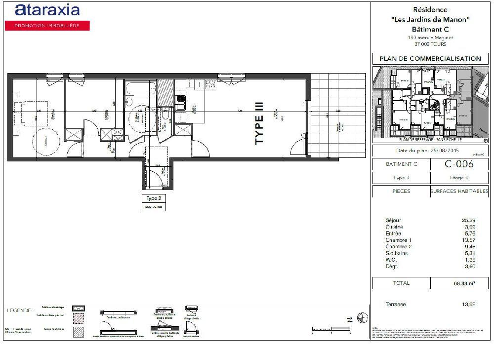 Appartement à louer 3 68.33m2 à Tours vignette-9