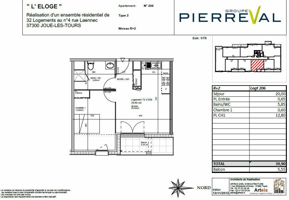 Appartement à louer 2 39.9m2 à Joué-lès-Tours vignette-8