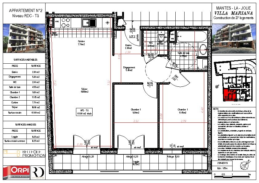 Appartement à vendre 3 61.6m2 à Mantes-la-Jolie vignette-1