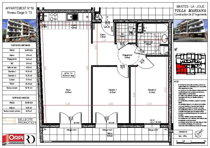 Appartement à vendre 3 62.5m2 à Mantes-la-Jolie vignette-1