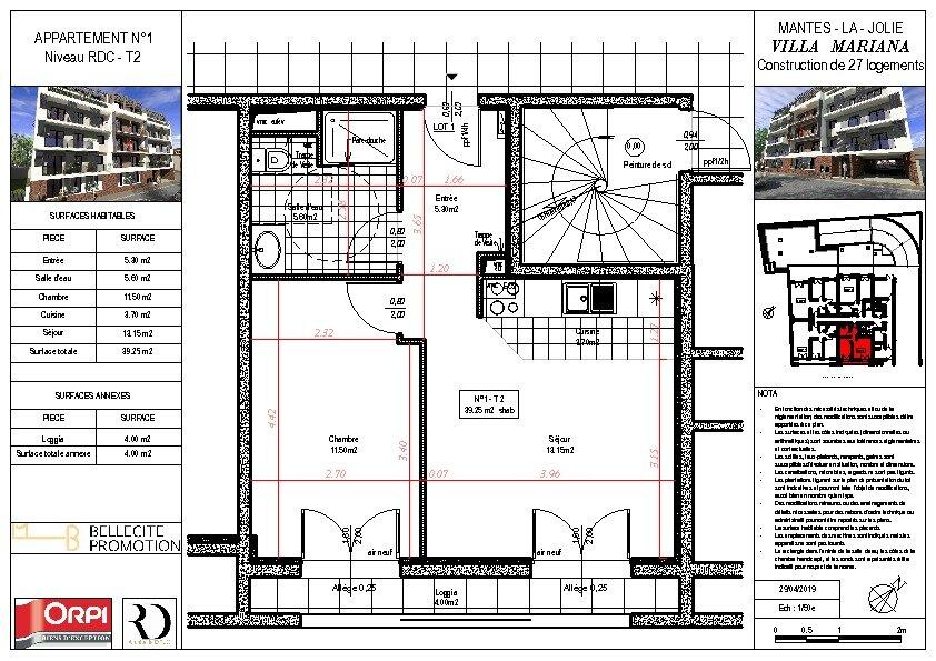 Appartement à vendre 2 39.25m2 à Mantes-la-Jolie vignette-1