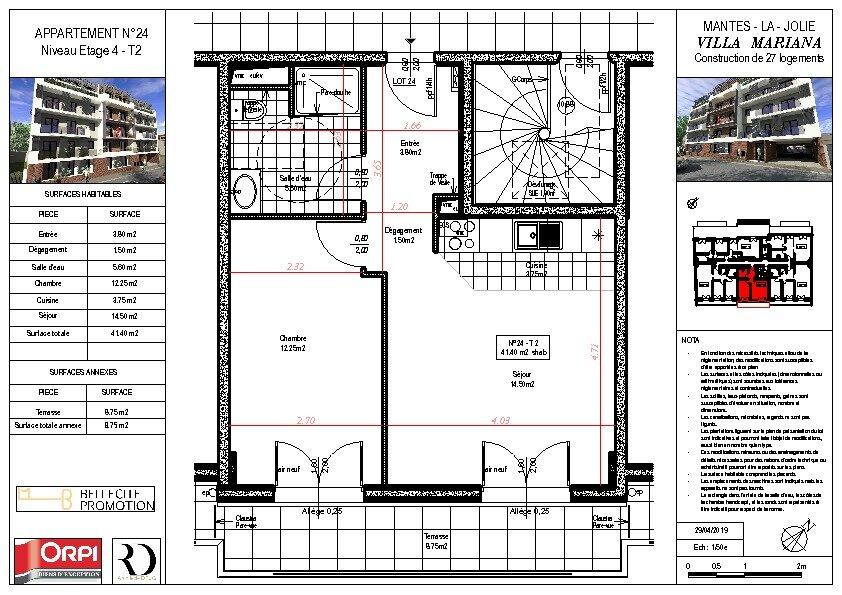 Appartement à vendre 2 41m2 à Mantes-la-Jolie vignette-1