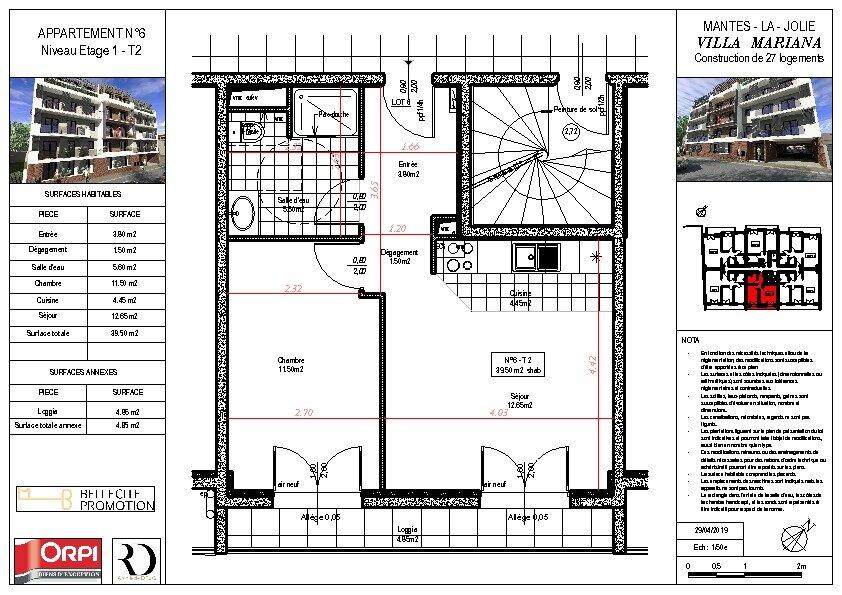 Appartement à vendre 2 39.5m2 à Mantes-la-Jolie vignette-1