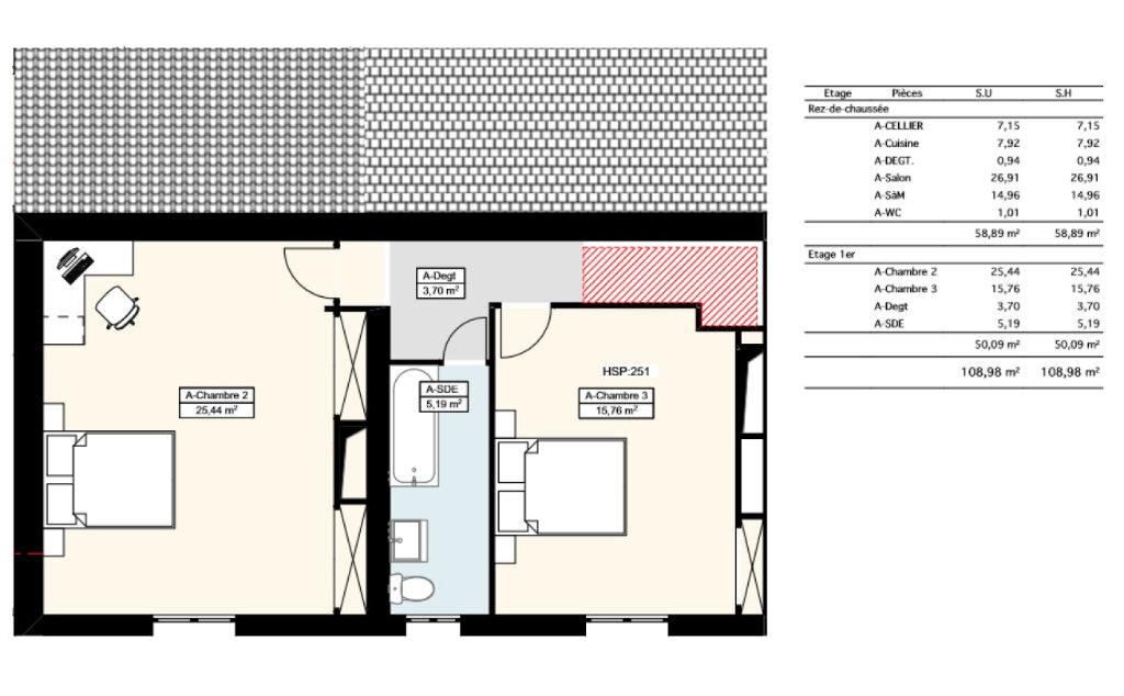 Maison à louer 3 108m2 à La Ville-aux-Dames plan-2
