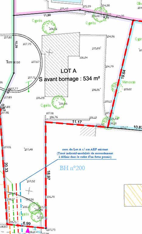 Terrain à vendre 0 534m2 à Bandol plan-1