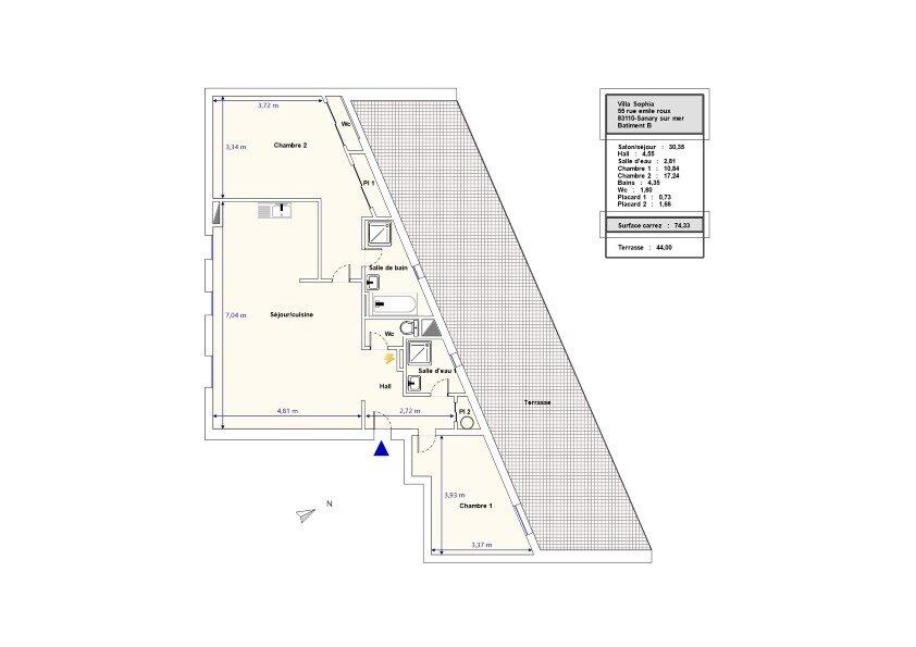 Appartement à vendre 3 72.2m2 à Sanary-sur-Mer vignette-7