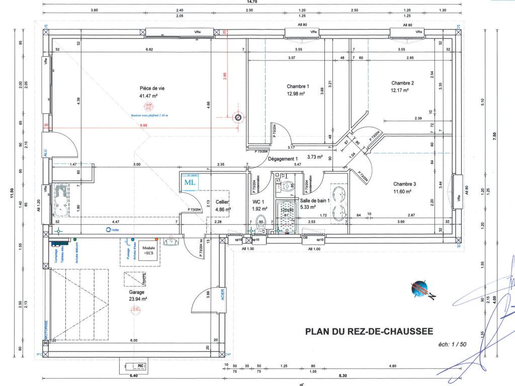 Maison à vendre 5 96m2 à Rieutort-de-Randon plan-1