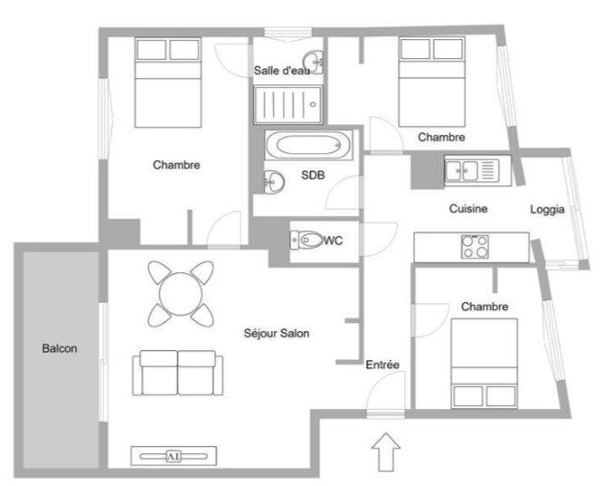 Appartement à vendre 4 70.48m2 à Golfe Juan - Vallauris plan-1
