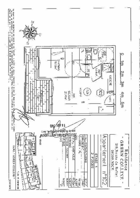 Appartement à vendre 2 41m2 à Nice plan-1