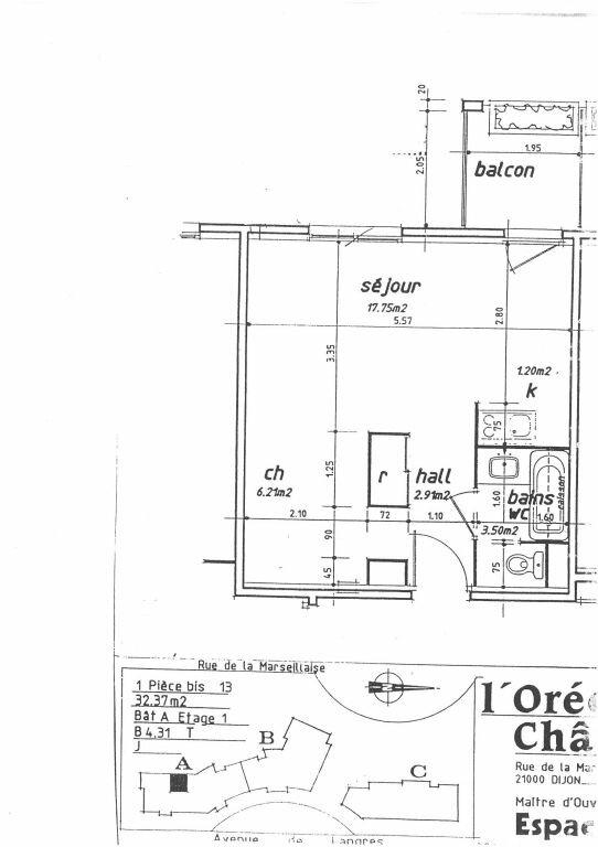 Appartement à louer 1 31m2 à Dijon vignette-12