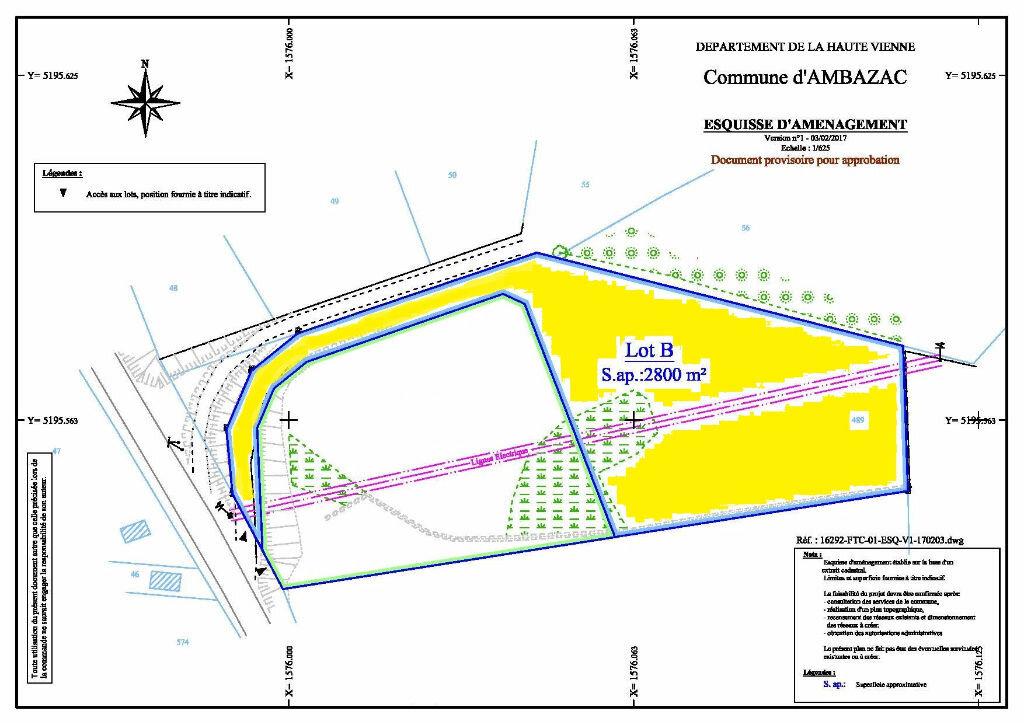 Terrain à vendre 0 5239m2 à Ambazac plan-1