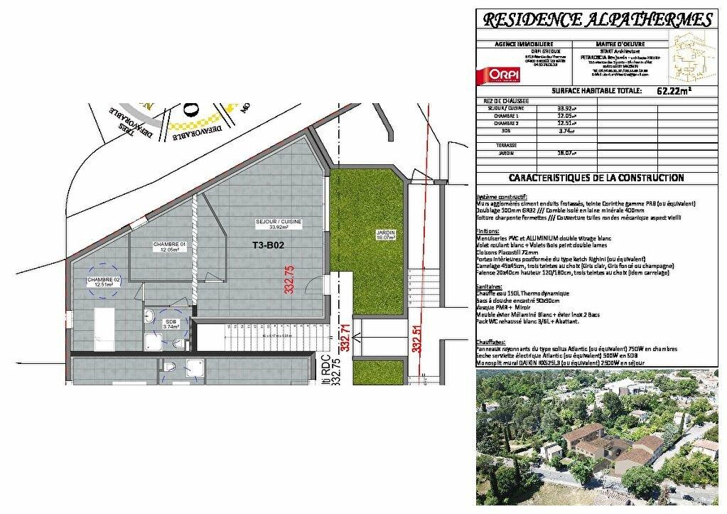 Appartement à vendre 3 62.22m2 à Gréoux-les-Bains vignette-2