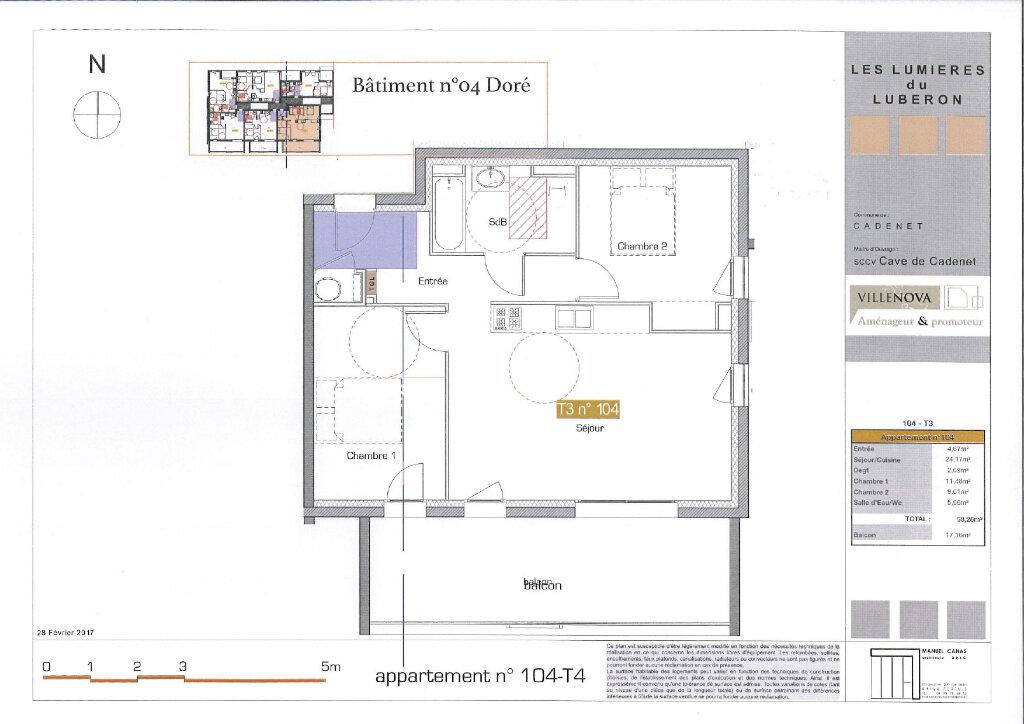 Appartement à vendre 3 58.28m2 à Cadenet vignette-3