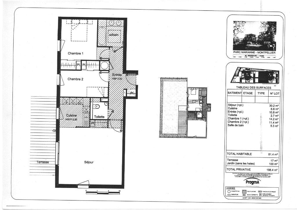 Appartement à vendre 3 81.4m2 à Montpellier plan-1
