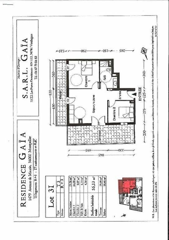 Appartement à louer 3 55.13m2 à Montpellier vignette-2