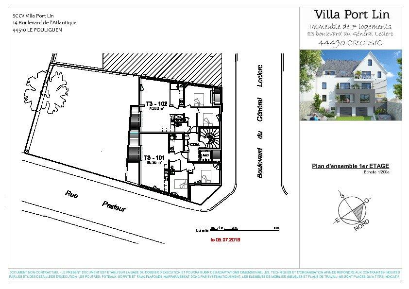 Appartement à vendre 3 70.6m2 à Le Croisic plan-2