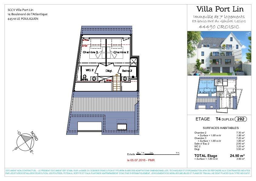 Appartement à vendre 4 83.2m2 à Le Croisic plan-2