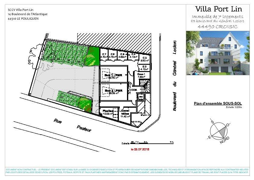 Appartement à vendre 2 42.65m2 à Le Croisic plan-3