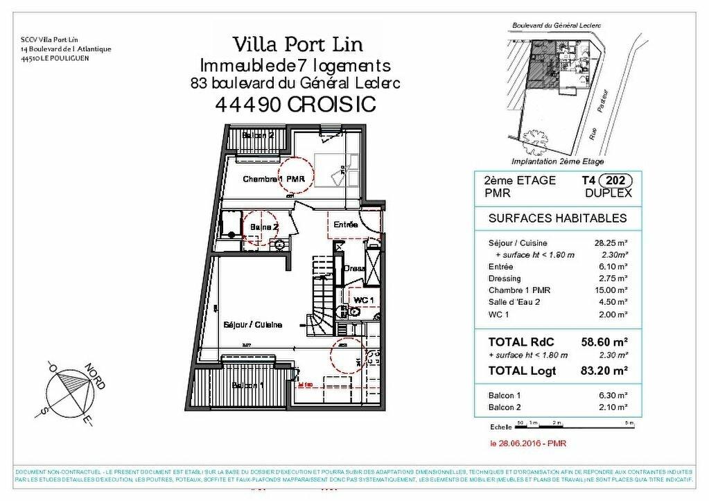 Appartement à vendre 4 83.2m2 à Le Croisic vignette-6