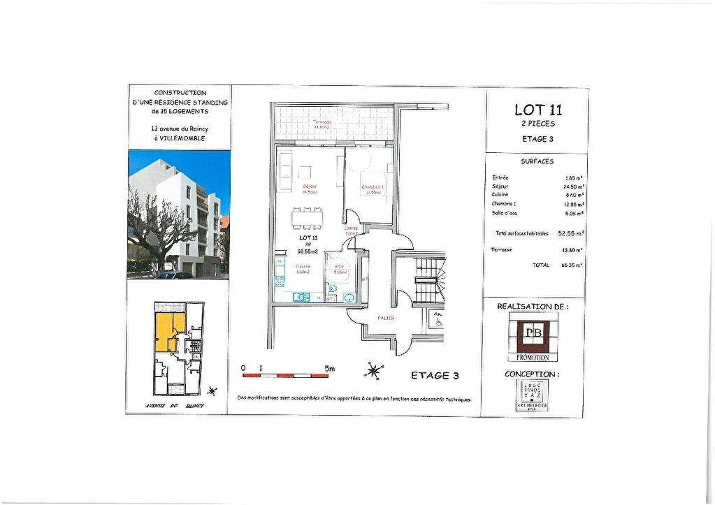 Appartement à vendre 2 53m2 à Villemomble vignette-3