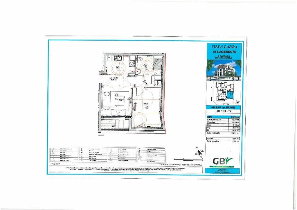 Appartement à vendre 2 40m2 à Villemomble vignette-2