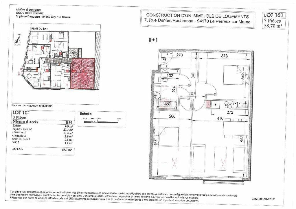 Appartement à vendre 3 59m2 à Le Perreux-sur-Marne vignette-2