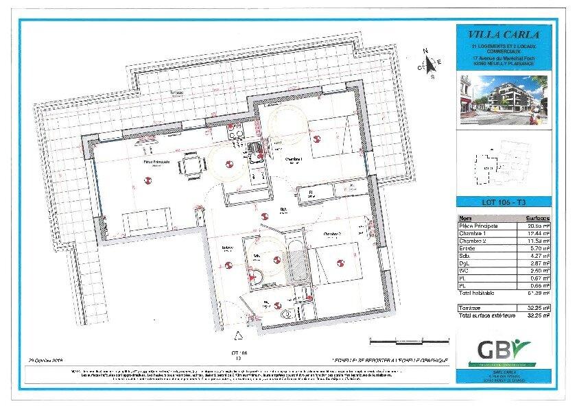 Appartement à vendre 3 61.39m2 à Neuilly-Plaisance vignette-1