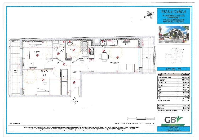 Appartement à vendre 3 56.71m2 à Neuilly-Plaisance vignette-1