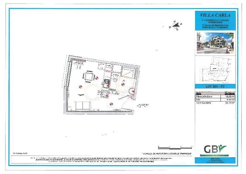 Appartement à vendre 1 23.1m2 à Neuilly-Plaisance vignette-1