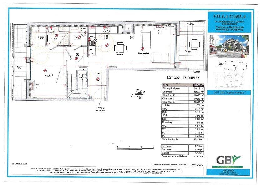 Appartement à vendre 5 90.73m2 à Neuilly-Plaisance vignette-1