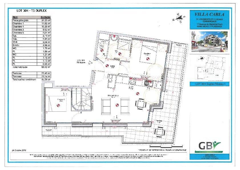 Appartement à vendre 5 87.19m2 à Neuilly-Plaisance vignette-2