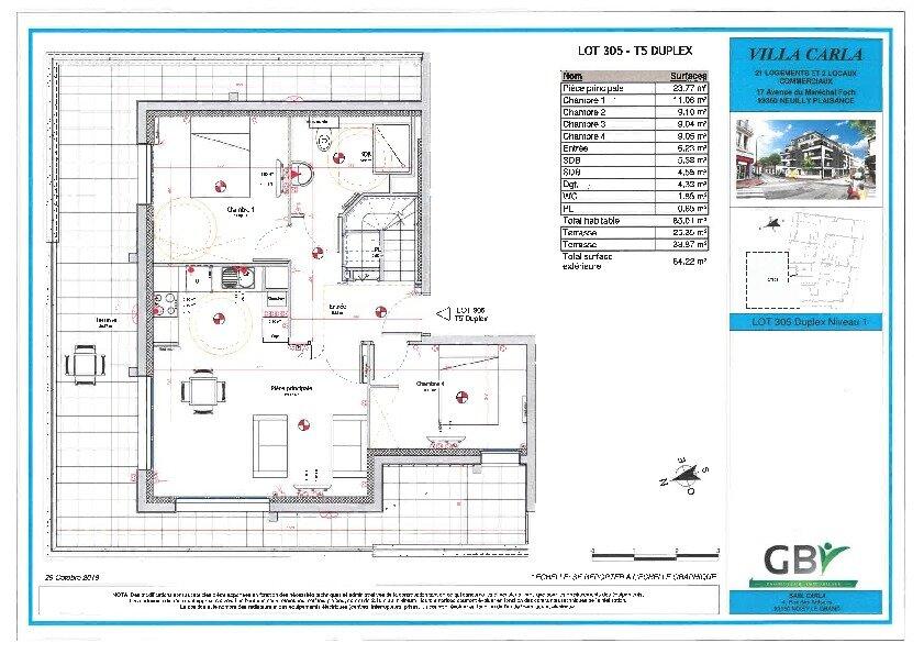 Appartement à vendre 5 85.01m2 à Neuilly-Plaisance vignette-2