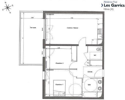 Appartement à louer 3 60m2 à Nîmes vignette-3