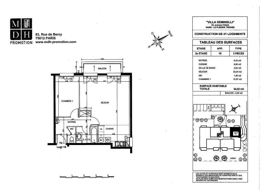 Appartement à louer 2 54.02m2 à Le Plessis-Trévise vignette-2