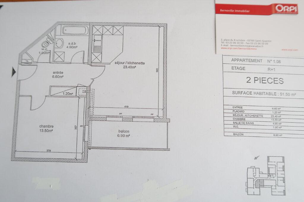 Appartement à louer 2 51.5m2 à Saint-Quentin vignette-4