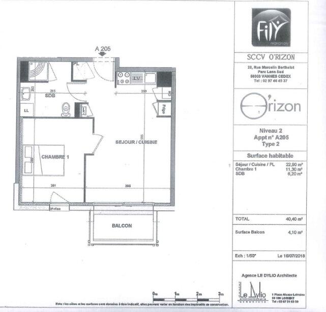 Appartement à louer 2 40.4m2 à Hennebont vignette-12