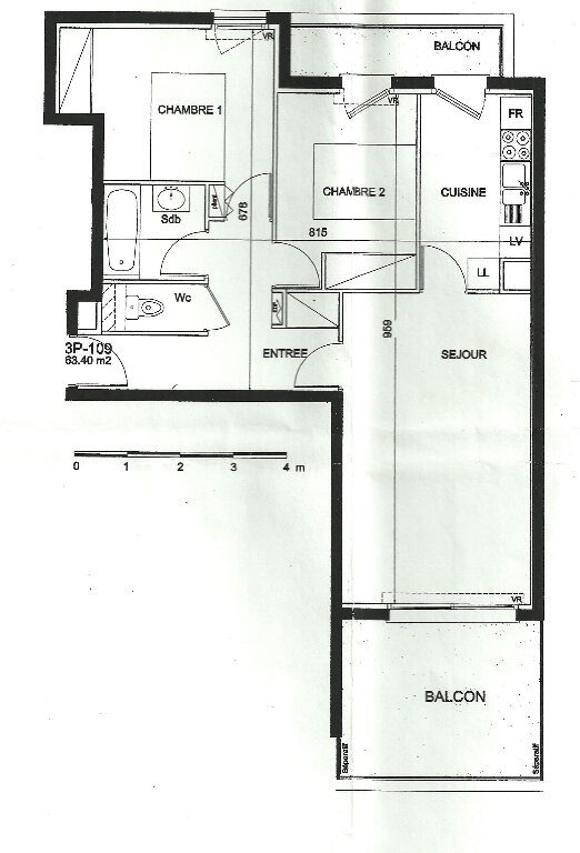 Appartement à louer 3 63.4m2 à Lorient vignette-15