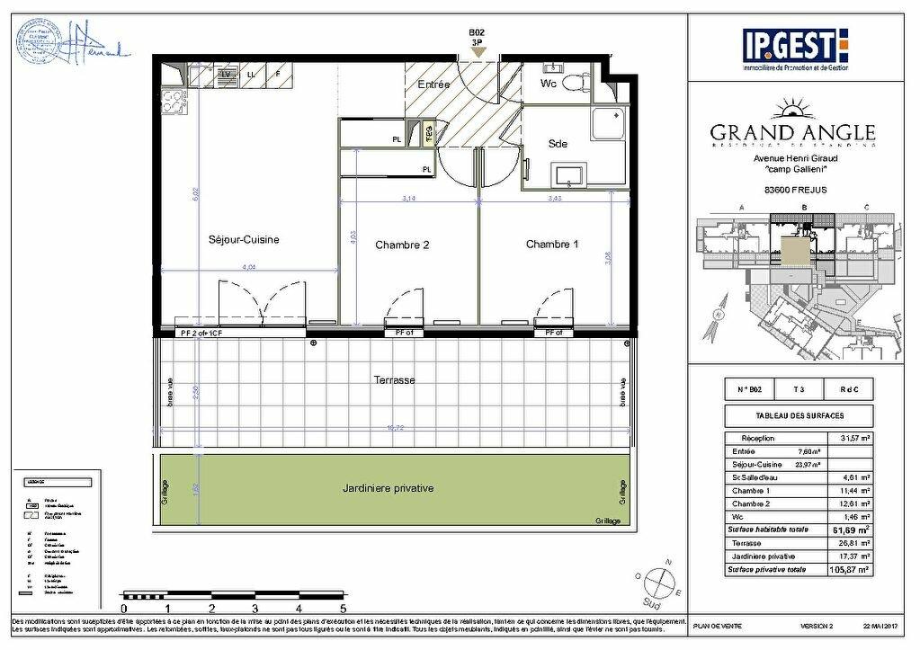 Appartement à vendre 3 61.69m2 à Fréjus vignette-5