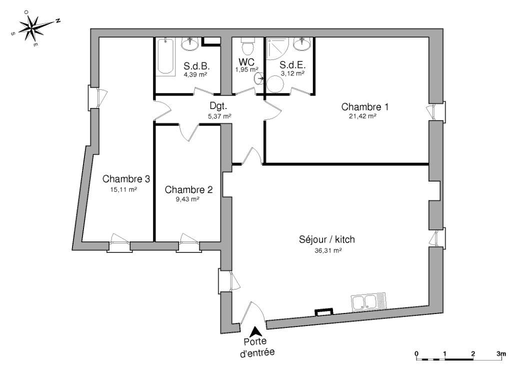 Appartement à vendre 4 98.55m2 à Pézenas vignette-4