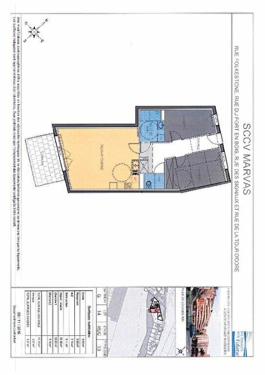 Appartement à vendre 3 70.75m2 à Boulogne-sur-Mer plan-1