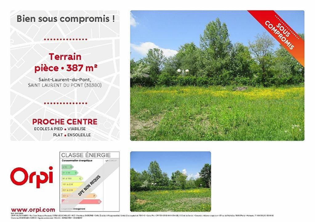 Terrain à vendre 0 387m2 à Saint-Laurent-du-Pont vignette-1
