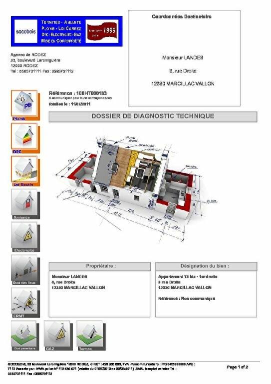 Appartement à louer 4 74m2 à Marcillac-Vallon plan-1