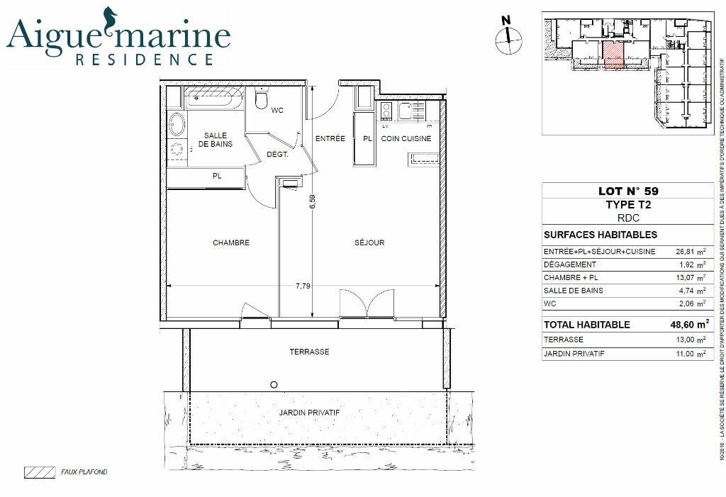 Appartement à louer 2 48.6m2 à Béziers vignette-1