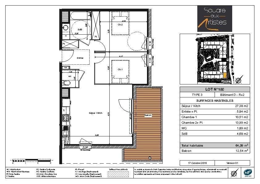 Appartement à louer 3 64.29m2 à Fonsorbes vignette-5