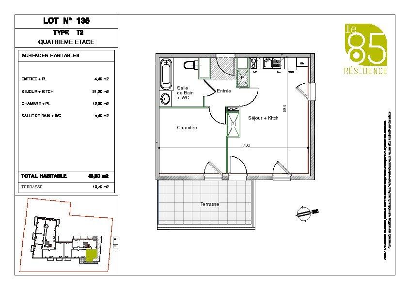 Appartement à louer 2 43.3m2 à Toulouse vignette-7