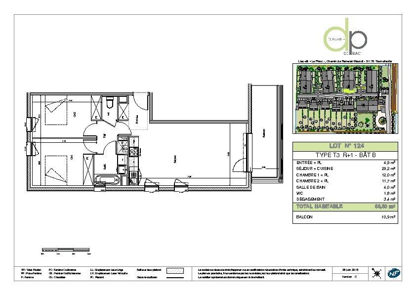 Appartement à louer 3 66.8m2 à Tournefeuille vignette-6