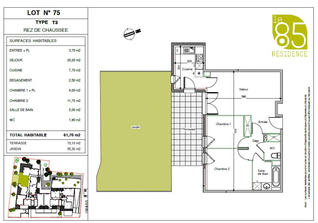 Appartement à louer 3 61.7m2 à Toulouse vignette-9