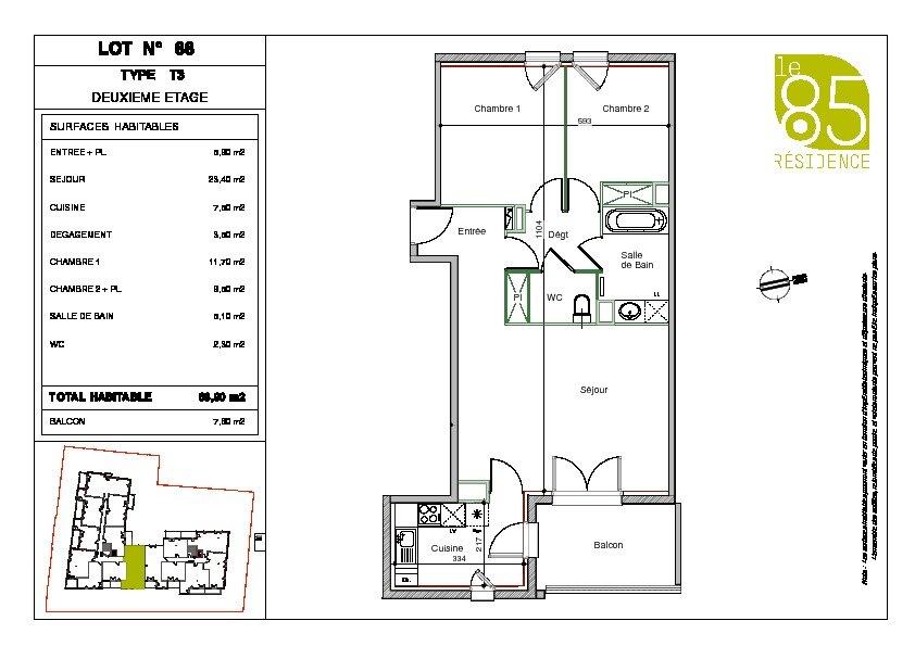 Appartement à louer 3 68.9m2 à Toulouse vignette-8